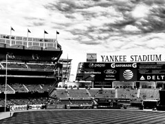 Yankee Stadium (brp1113) Tags: field blackandwhite monochrome bw stadium sports baseball bronx yankees yankeestadium