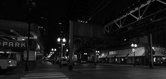 Wells Street at Night - Downtown Chicago - 17 Aug 2017 - 5DS - 140 (Andre's Street Photography) Tags: chicago chitown downtown loop el eltracks elstop elevated cta masstransit wellsstreet monroestreet wellsmonroe night dark atnight aftersunset darkness deserted desolate noone park parkinggarage att store street straat straatfotofrafie streetphotography urban city urbanphotography urbanlandscape urbanscenery cityscape nightscape chicagoatnight bw bwohotography blackandwhite zwartwit schwarzweiss noiretblanc blancoynegro blancoenero strasse strada lacalle larue fotografiadistrada urbanchicago westloop gritty photobyandrevanvegten chicagoist chicagoistphotos chicagotribune chicagojournal chicagoreader chicagomagazine chicagocapture aroundillinois explorechicago dedeka enjoyillinois illinois chicagostreets bwphoto canon eos 5ds sigma sigmaart sigma20mmf14art