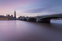 Westminster Twilight (artursomerset) Tags: london westminster bigben bridge river longexposure sunset city cityscape