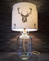 Stag's Head Demijohn Lamp upcycled (Wattbottles) Tags: stagshead stag head stags lamp lighting light interior design home bar decor country rustic boho bohemian demijohn crafts handmade upcycled upcycle etsy gift present idea rope interiordesign