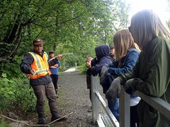 BCWF's Doug explains the planting experiment (BC Wildlife Federation's WEP) Tags: outreach public yellowflagiris bcwf education wep wetlandseducationprogram invasive species control research wetland bcwildlifefederation cheamlake cheam rosedale chilliwack