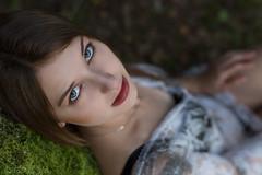 Anxiety (piotr_szymanek) Tags: karolina eyes portrait woman girl face eyesoncamera skinny young fashion 5k 10k 20k 30k 50f 100f 1k 20f brunette karolinau 40k closeup outdoor