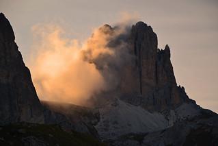 Evening scene in the Dolomites