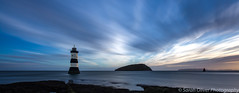 Trwyn Du Lighthouse just after sunrise (SarahO44) Tags: penmon point wales anglesey trwyn du lighthouse sunrise lee big stopper long exposure landscape outdoors water clouds sky blur puffin islabnd isle