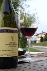 Nebbiolo delle Langhe (fotomie2009) Tags: castiglione falletto bicchiere glass bottle red piemonte piedmont italy italia wine vino nebbiolo langa langhe bottiglia albeisa
