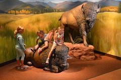 Buffalo riders (radargeek) Tags: co colorado coloradosprings gardenofthegods bison buffalo statue kids mural painting