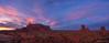 Monument Valley sunset pano (NettyA) Tags: 2017 america arizona monumentvalley navajotribalpark northamerica sonya7r us usa rock sunset travel pano panorama clouds sentinelmesa themittens merrickbutte desert arid sky