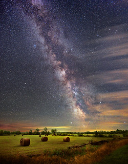 Milky Way at harvest time - rural west Ottawa