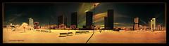 Plaça d'Europa (Ar@lee) Tags: barcelona catalunya arquitectura airelibre bordeparafotos colours construcción d50 espectrecomplet exteriors fullspectrum filtre720nm fotografíainfrarroja ir sky nikond50 photographyinfrared panorámica paisajeurbano red rojo street urbà yellow amarillo naranja orange 360º