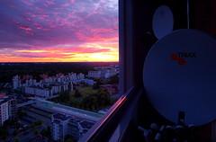 Sunset (timo_w2s) Tags: sunset satellitedish vuosaari helsinki finland evening triax bsb