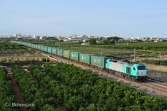 335-013 Acotral (ɢ. ʙᴇʀᴇɴɢᴜᴇʀ [ ō-]) Tags: tren ferrocarril naranjos verde 335 335013 acotral mercancías transfesa stadler euro4000 ffcc railway railroad locomotora locomotive
