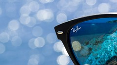 Eye Sun protection. STAYING HEALTHY (Jesús Puigmartí) Tags: macromondays stayinghealthy macro sun rayban mediterranean mediterrani tarragona summer blue color nikon d7100 tamron90mm camideronda mediterraneanpath closeup