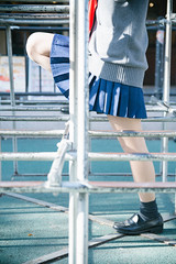 High School Girl Not Allowed To Show Her Face (Dick Thomas Johnson) Tags: japan tokyo shibuya harajuku 日本 東京 渋谷 原宿 ジャングルジム junglegym highschoolgirl 女子高生 jk highschoolstudent 高校 高校生 highschool student 制服 uniform ポートレート portrait