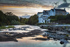 Inagh River & The Falls Hotel (shauntanner) Tags: landscape river inaghriver sunset countyclare ireland ennistymon lahinch fallshotel