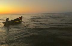 Bandar Anzali (bamdadnorouzian) Tags: sunset nature iran anzali sea water ship boat