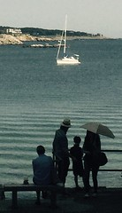 Already the past (The Big Jiggety) Tags: sea ocean mer see parasol rockport boat bateau voilier sailboat