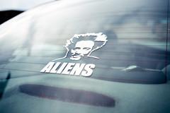 ancient astronaut theorist (194/365) (severalsnakes) Tags: kansas m3528 pentax saraspaedy shawnee aliens ancientaliens car decal giorgiotsoukalos k1 sticker window