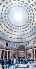 Panorama im Inneren des Pantheon in Rom, Italien (marcoverch) Tags: architecture diearchitektur travel reise dome kuppel building gebäude city stadt noperson keineperson tourism tourismus ceiling decke indoors drinnen religion tourist art kunst landmark wahrzeichen church kirche people menschen urban städtisch group gruppe sculpture skulptur rotunda runde daylight tageslicht pantheon rom italien candid spring airport baby australia noiretblanc flickr usa cathedral halloween