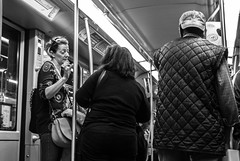 And then he said... (Henka69) Tags: metro candid street streetphoto monochrome bw publictransportation milano