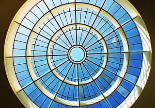 the sky-blue dome