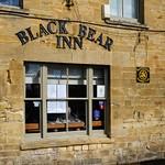 At Moreton in Marsh: CTC Sign adorns the Black Bear Inn. thumbnail