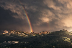After Thunderstorm (Manuel.Martin_72) Tags: graubünden prättigau swissalps switzerland drama enchanting fairytale lightdrama magic forest green mountainpeaks mountainslope mountains rocks stones trees woods clouds cloudy glow thunderstorm evening pany ch