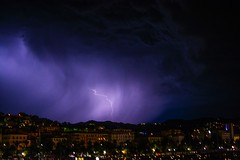 Fulmine LaSpezia (WhySoSerious_?) Tags: manolibera nophotoshop nofiltri notturno notte paesaggio fulmine thunderbolt laspezia temporale nikond5200 nikon