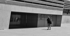 Glass (kieranjones380) Tags: people beauty bw contrasting contrast sunny spain observation observational woman