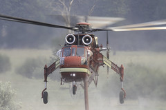 N7095B (trifeman) Tags: 2017 summer august california plumas quincy eastquincy plumascounty plumasnationalforest pnf usfs minervafire fire helicopter canon 7d tamron canon7dmarkii tamron150600mm forestfire water sikorsky siller sillerhelicopters ch54a skycrane n7095b
