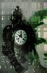 El ángel exterminador (seguicollar) Tags: reloj hora ángel green texturas tiempo exterminador interpretación marlene dietrich verde gris black imagencreativa photomanipulación art arte artecreativo artedigital virginiaseguí