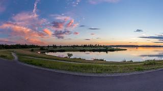 Cospudener See, Sonnenuntergang
