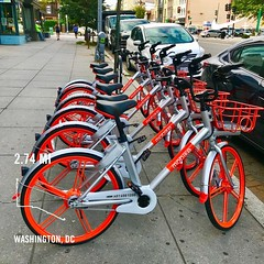 #activetransportation #firstsighti ng @MobikeUSA #MoBike PS ❤️ DC #dcstatehood