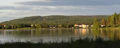 beautiful evening (helena.e) Tags: helenae semester vacation ålga husbil motorhome norrland boden camping bodencampingbad water vatten bodträsket sjö lake