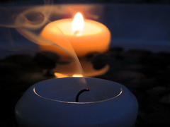 Candle smoke!!! (bybeer) Tags: candle smoke light night focus macro
