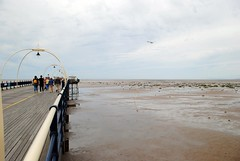 Edge of Southport Pier (zawtowers) Tags: southport merseyside north west england cloudy dry sunday 22nd august 2017 day out visit seaside resort destination beach sea pier second longest pleasure grade ii listed victorian opened 1860 leaning over edge tide far