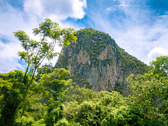 Limestone hill formations near Ipoh (Stratman² - (Joey and I are both ill )) Tags: canonphotography powershotg1x limestonehills nature ipoh northsouthhighway scenery plushighway northsouthexpressway