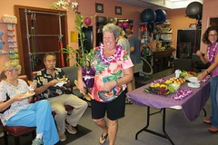 Leader of the Pack (BarryFackler) Tags: southkonaphysicaltherapy southkonaphysicaltherapy10thanniversary celebration party friends physicaltherapy smallbusiness aloha captaincookhawaii kealakekuaranchcenter clinic medicaloffice 2017 happy hawaii southkona polynesia westhawaii hawaiiisland captaincookhi bettyfackler betty bettybowen orchid pottedplant gift smile smiling table pupus refreshments lei food physicaltherapist people indoor