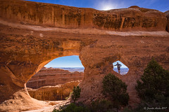 Partition Arch (NettyA) Tags: 2017 archesnationalpark devilsgardentrail partitionarch sonya7r usa utah hike hiking landscape travel rock arch sandstone arid