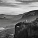 Views of the Columbia River at Chanticleer Point (Black & White)