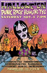 Halloween Punk Rock Bowling YYC (Tom Bagley) Tags: cartoon topstone vampiregirl punk halloween bowling pumpkin owl spooky creepy eerie weird ink tombagley calgary alberta canada majorminor forbiddendimension