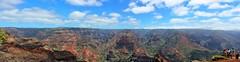 Waimea Canyon Panorama (DaveFlker) Tags: waimea canyon lookout kauai hawaii scenery panorama panoramic