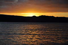 Sundown (katy1279) Tags: sunset sundown lochewe scotland beautiful waves seascape