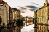 Peaceful summer nights (burn_2_3) Tags: france metz river long exposure sunset walk reflextion buildings architecture