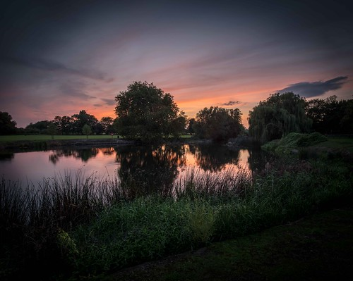 Sunset at Godmanchester 2