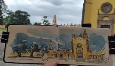 Covento de San Gabriel #Cholula #urbansketchers #roadtrip (dege.guerin) Tags: instagramapp square squareformat iphoneography uploaded:by=instagram