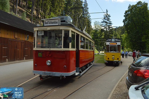 Lockwitztalbahn Tram 9 (Bautzen Motorwagen) + Plauen Straßenbahn Tram 3 (Gothawagen motorwagen) - Sebnitz (Kirnitzschtalbahn)