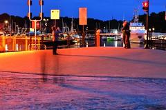 Lovely dusk (navarrodave80) Tags: dusk colors citi city harbourfront ustka poland people
