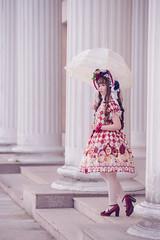 SDF_9610 (SendoFu) Tags: bonnet lolita ボンネット エプロン風スカート blouse bl ブラウス headbow kc カチューシャ bnt 蕾絲 維多利亞 jsk op onepiecedress ワンピース jumperskirt ジャンパースカート nop lolitafashion 蘿莉塔 蘿莉塔時裝 ロリータ・ファッション sweetlolita classicallolita