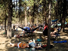 chilling far back of the sky stage (citymaus) Tags: oregon eclipse gathering symbiosis 2017 art arts music festival ochoco national forest big summit prairie sky stage hammocks hammock chillin chilling people