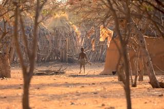 Himba Boy Himba Village Kamanjab Damaraland Namibia South West Africa